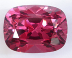 A 26.60 carat cushion shape pink Spinel.
