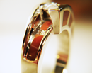 Small photo of a ring inlaid with Jasper.