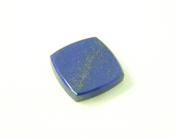 The same Lapis cabochon is now nicely polished and the blue color comes out.