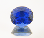Photo of an oval blue Tanzanite.