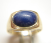Ring with a blue stone which needs to be re-polished.