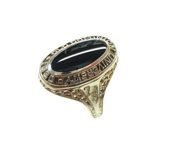 The same black Onyx cab in the ring has been re-polished and looks like new.